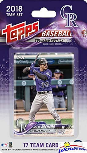 Many Players Mlb Team - Colorado Rockies 2018 Topps Baseball EXCLUSIVE Special Limited Edition 17 Card Complete Team Set with Nolan Arenado, Raimel Tapia & Many More Stars & Rookies! Shipped in Bubble Mailer! WOWZZER!