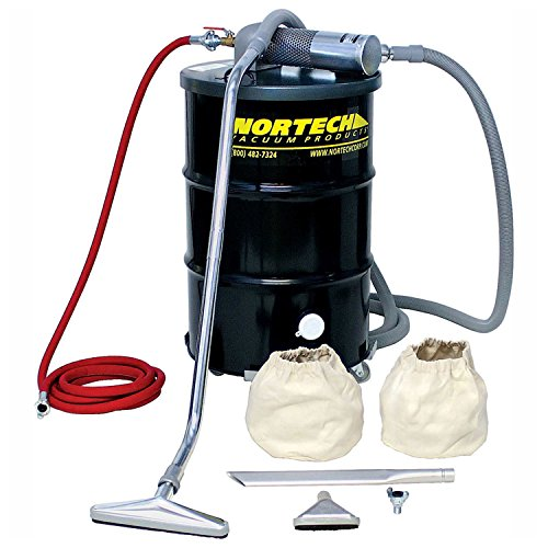 - Nortech N551BCXP B Vacuum Unit with 1.5-Inch Inlet and Powder Coating Attachment Kit, 55-Gallon