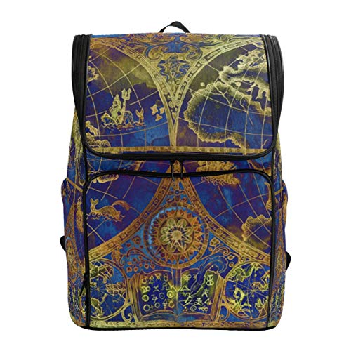 Travel Case Atlas (Canvas Backpack Vintage World Atlas Map Large Capacity School Daypack Bookbag Laptop Backpack)