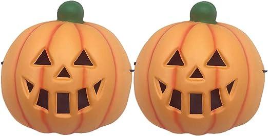 Holibanna 2 Piezas de máscara de Calabaza Malvada de Halloween ...