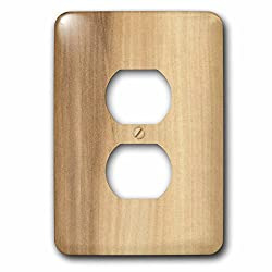 3dRose lsp_41609_6 Two Plug Outlet Cover with Maple Wood