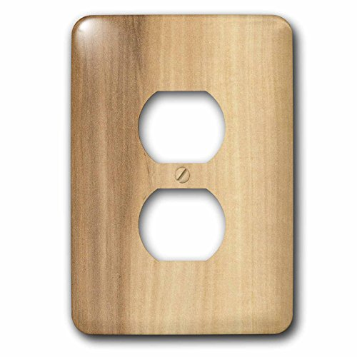 3dRose lsp_41609_6 Two Plug Outlet Cover with Maple (Maple Outlet)