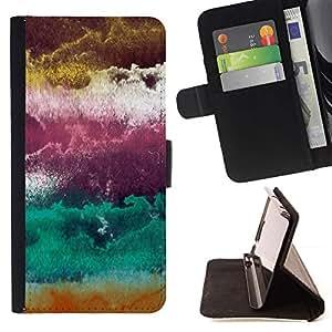 Momo Phone Case / Flip Funda de Cuero Case Cover - Ciruela púrpura abstracta Nubes Arte - Samsung Galaxy S6 Edge Plus / S6 Edge+ G928