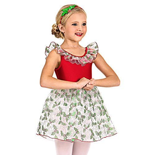 [Girls Holly Print Tank Dress Set,N7506CMLTM,Multi,Medium] (Dance Hall Holly Costumes)