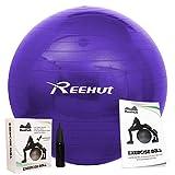 Reehut Anti-Burst Core Exercise Ball w/ Pump & Manual for Yoga, Workout, ...