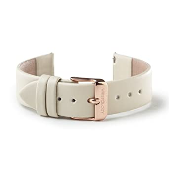 1b61efd05 WRISTOLOGY Rose Gold 18mm Womens Easy Interchangeable Watch Band (Beige)