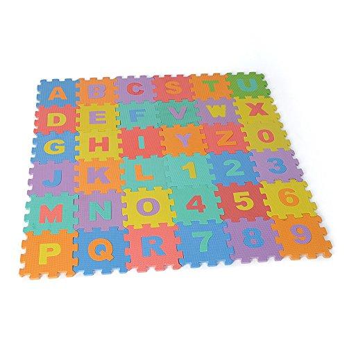 Soledi Puzzle Tapis Mousse Bebe Alphabet Et Chiffres 16 X 16 X0 8