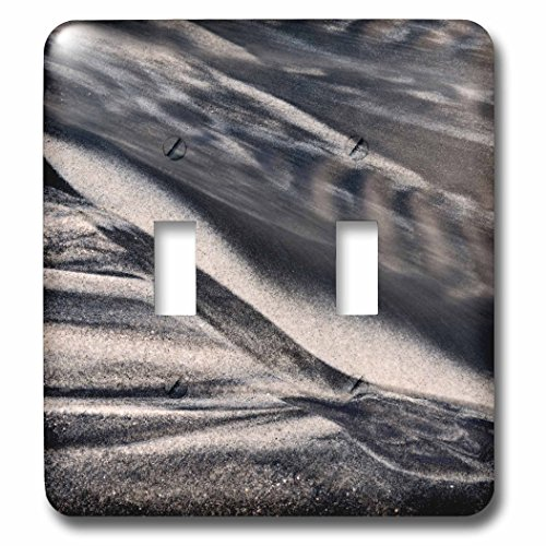 3dRose Danita Delimont - California - California, Encinitas, abstract of water flowing on beach - Light Switch Covers - double toggle switch - Outlet Encinitas