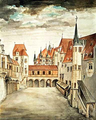 kunst für alle Art Print/Poster: Albrecht Dürer Castle Courtyard Innsbruck Picture, Fine Art Poster, 15.7x19.7 inch / 40x50 cm