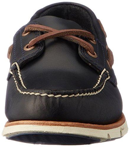 Timberland Tidelands 2 Eye CA1BBU, Zapatos del barco Bleu marine