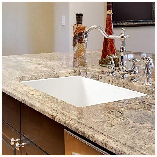 Kitchen Houzer PTU-2400 WH Fireclay Kitchen Sink, White modern kitchen sinks