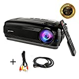 HD projector, Sourcingbay BY58 1080P 3200 Lumens Efficiency LED Video Projectors Multimedia TV Home Cinema Theater Support Xbox VGA USB Speaker HDMI for Outdoor Movie Night,Laptop Smartphone Box