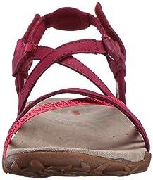 Merrell Women\'s Terran Lattice II Sandal, Fuchsia, 7 M US
