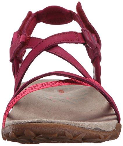 Merrell Teran Lattice II - Sandalias de Punta Descubierta Mujer Rosa (Fuchsia)