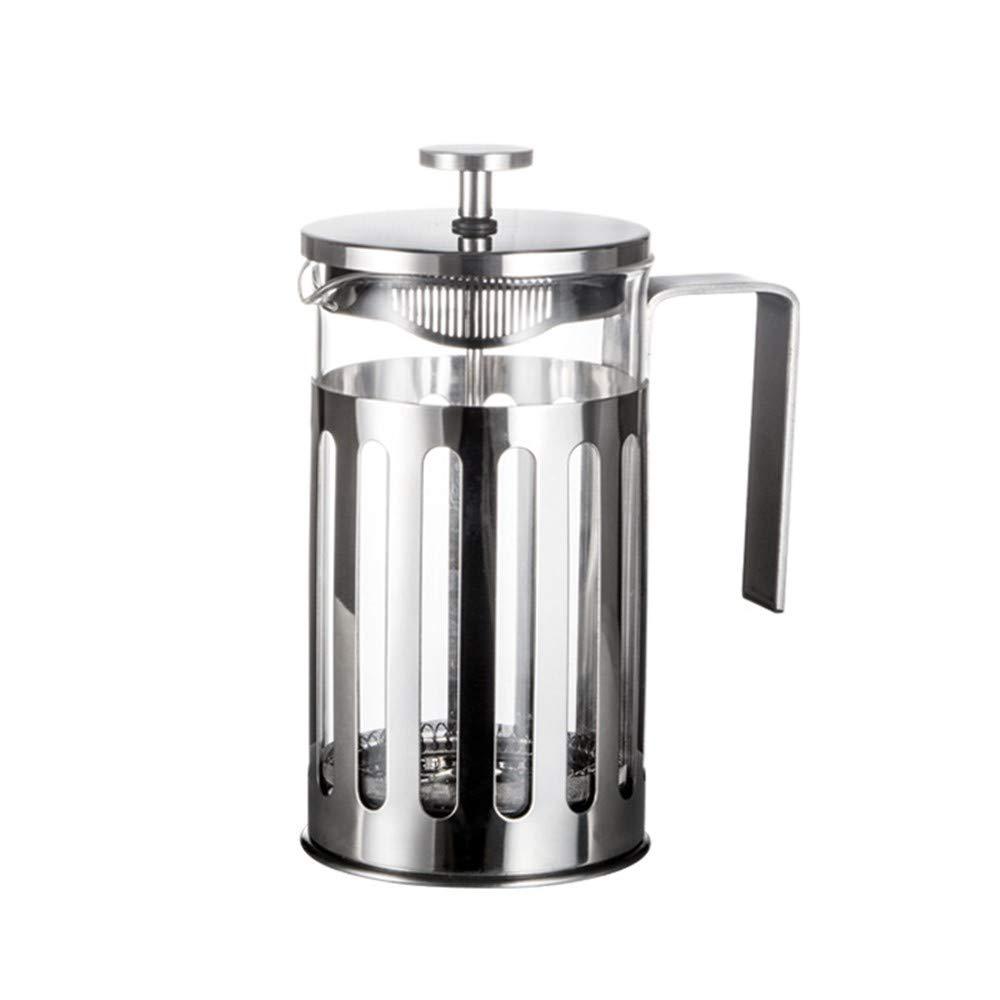 Acquisto YZH – Caffettiera in Vetro borosilicato, Resistente alle Cadute e alle intemperie, Colore: Argento Prezzi offerta