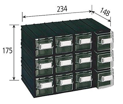 Cassettiere Componibili In Plastica.Vipa Srl Cassettiera Componibile In Plastica Colore Trasparente