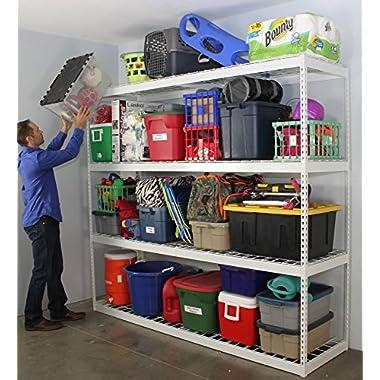 SafeRacks Garage Storage Rack | Steel Shelving Unit | 2'D x 8'W x 7'T