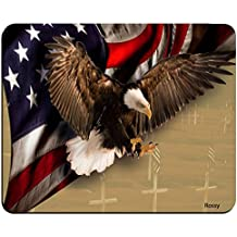 American Flag and Bald Eagle Customized Rectangle Non-Slip Rubber Mousepad Gaming Mouse Pad Mat MP0222