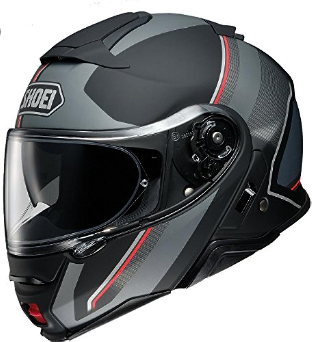 [해외] 쇼에이 오토바이 헬멧 시스템 풀 페이스 NEOTEC2 EXCURSION ex카 숀 TC-5 SILVER/BLACK 매트 컬러 M 57CM -