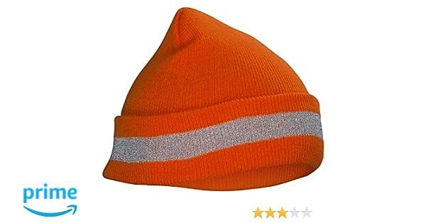 SAS Hi-Viz Orange Safety Knit Beanie Hat 1 size fits all #692-1711