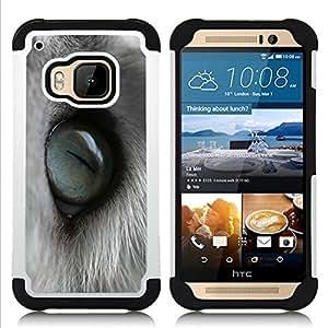 BullDog Case - FOR/HTC ONE M9 / - / Cat Eye Macro /- H??brido Heavy Duty caja del tel??fono protector din??mico - silicona suave