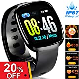 Women Fitness Tracker - Full Touch Screen Sport Business Smart Watches, Heart Rate Blood Pressure Blood Oxygen Sleep Monitor Watch, GPS Pedometer Activity Tracker Watch for Prime Summer Holiday Gifts