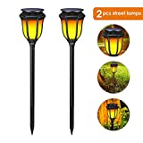 Cheap EleLight 2Pack Solar Lights, Solar Powered Waterproof Flickering Flames LED Torch Light Lawn Lamps with Dancing Flames Landscape Lighting for Outdoor Garden Patio Deck Yard Driveway Pool Decor