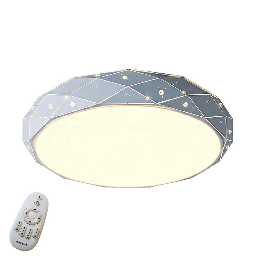 24W LED Dimmbar Sternenlicht Deckenleuchte Starlight Diamant Form Deckenleuchte SternenΦ320*100mm Modern Rhombus Design Lampe Runde Romantische Wohnzimmer Lichter (24W Dimmbar)