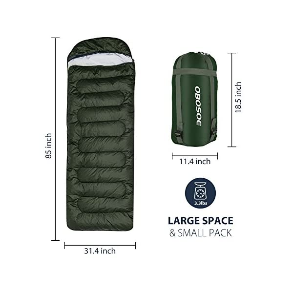 OBOSOE Sleeping Bag 30 60 Portable Lightweight Compact Packable Waterproof Bags For Adult 3 4 Season Camping Hiking Traveling Backpacking And Outdoor Activities