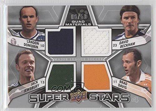 Landon Donovan; Jack Jewsbury; David Beckham; Brad Davis #6/50 (Trading Card) 2012 Upper Deck MLS - Super Stars Quad Materials #SS-MID