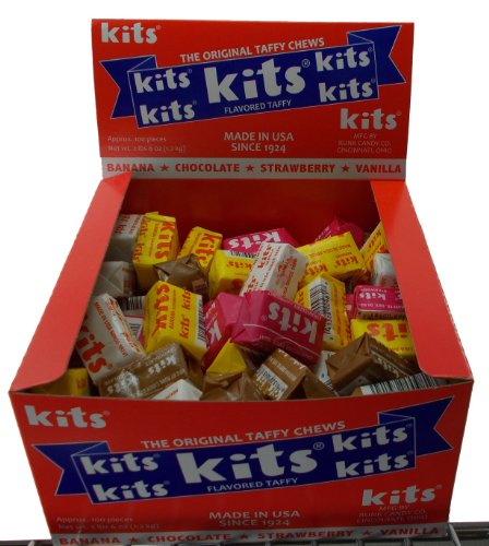 Kits Original Taffy Chews - 4 Assorted Flavors, 100 Count Box