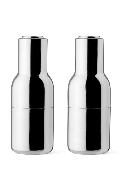 menu bottle salz und pfefferm hlen set klein hellblau holzdeckel ebay. Black Bedroom Furniture Sets. Home Design Ideas