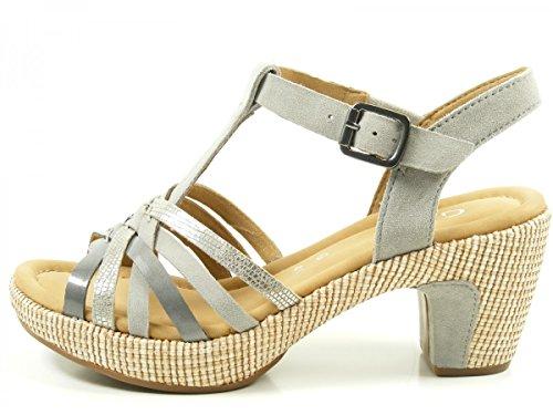 Gabor 62-736 Sandalias fashion de cuero mujer Grau