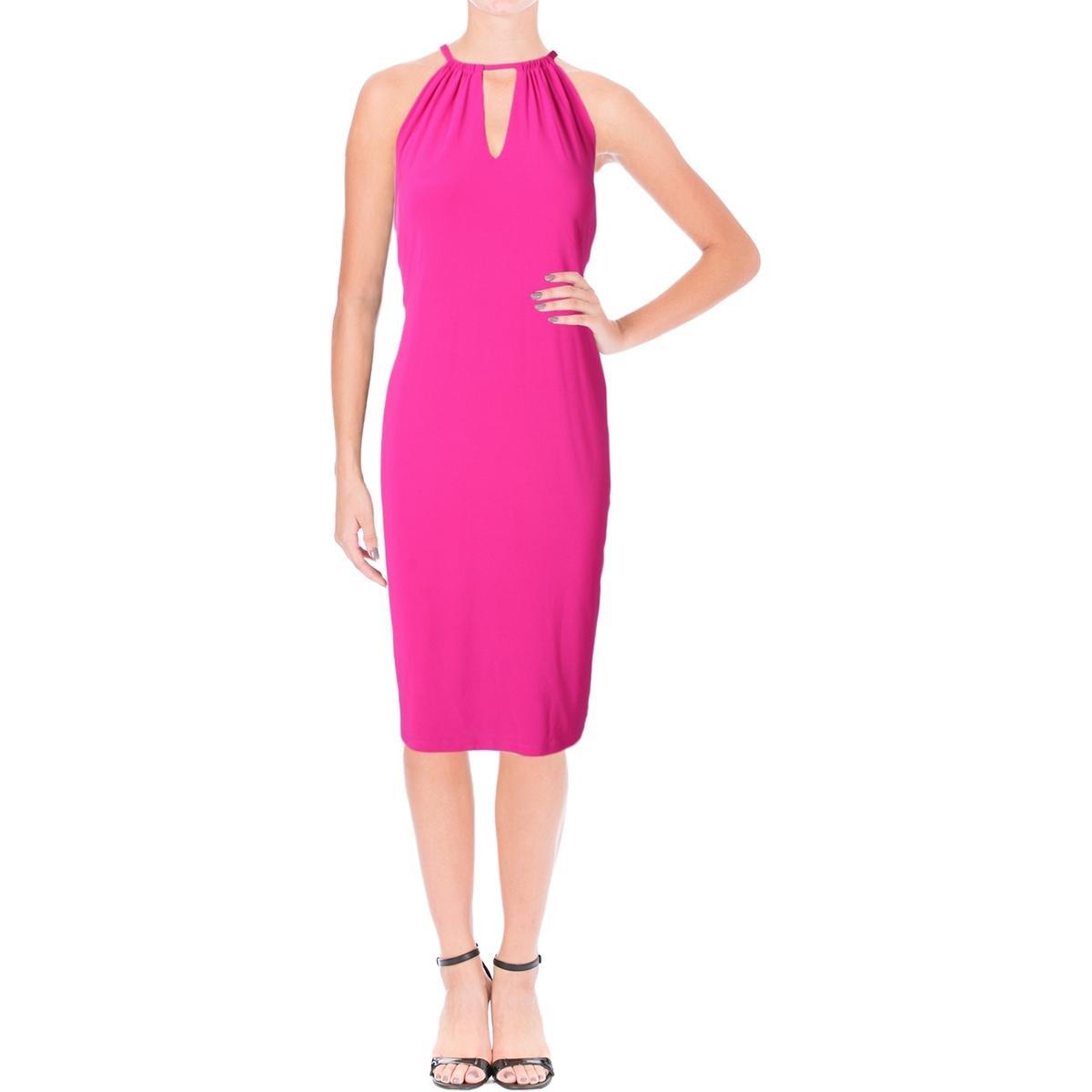 Lauren Ralph Lauren Womens Jersey Stretch Cocktail Dress Pink XS