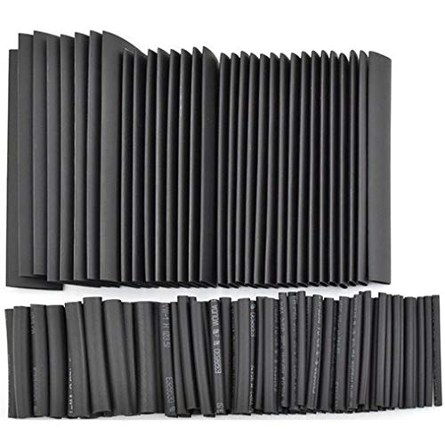 Cable Sleeve 127Pcs Black Glue Weatherproof Heat Shrink Sleeving Tubing Tube Assortment Kit
