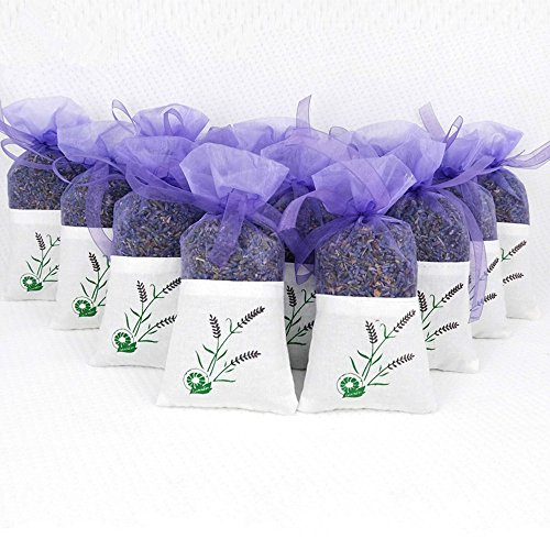 10 Pack Scented Dried Lavender Buds Aromatic Air Fresh Sachets Dry Flowers Herb Home Decoration Deodorant Sachets by EBUYOM