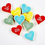1 Dz. Mini Conversation Heart Cookies! GIFT BOX INCLUDED Valentines Day, I Love Yous, Gifts and More