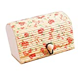 Auwer Retro Creative Bamboo Storage Box Jewelry Box Earring Ring Box Pendant Box Soap Box Home Decoration Gift (Khaki)