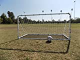 PASS 7X4 Ft. 2-in-1 Collapsible Soccer Goal and Rebounder. Portable Practice & Training Aid.