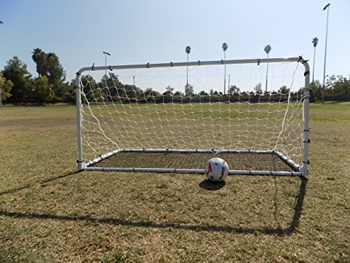 PASS 7X4 Ft. 2-in-1 Collapsible Soccer Goal and Rebounder. Portable Practice & Training Aid. by Pass