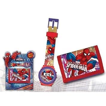 Set reloj de pulsera digital y billetera de Spiderman (12/48): Amazon.es: Juguetes y juegos