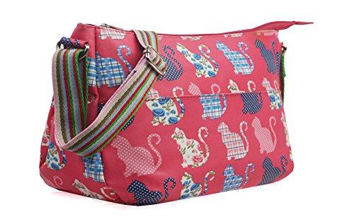 Fuchsia Tote YDezire® Messenger Cross Oilcloth Body Women Handbag Satchel Ladies Bag Shoulder Cat qq7A6F