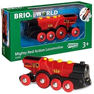 BRIO Eisenbahn Elektrische Lok, Brio World Eisenbahn Zubehör, Holzeisenbahn, Rote Lola 11