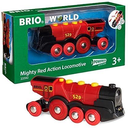 BRIO Eisenbahn Elektrische Lok, Brio World Eisenbahn Zubehör, Holzeisenbahn, Rote Lola 1