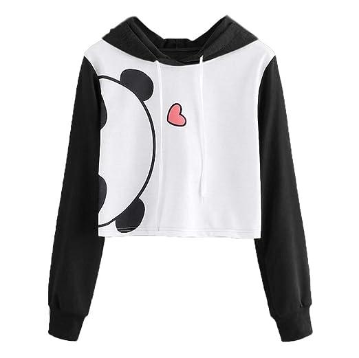 ddd0dbba668 Lowprofile Fashion Teen Girls Women s Panda Print Hoodie Sweatshirt ...