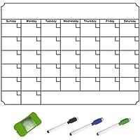 Yuanj Calendario magnético para Pizarra Blanca, Ideal como planificador semanal, tablón de Notas, Lista de Compras…