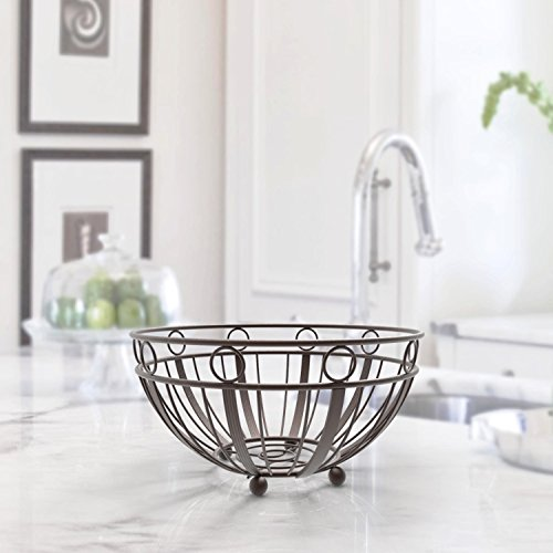 Inspired Living by Mesa Inspired Living Kitchen BASKETSTAND Bowl in Oil Rubbed Bronze Empire Collection FRUIT BASKET, - Hanging Basket Collection