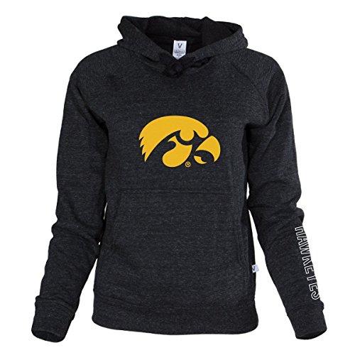 Official NCAA University of Iowa Hawkeyes ON IOWA HERKY THE HAWK Women's Boyfriend-Fit Adult Hoodie Stylish Tri- Blend Full Sleeve O-Neck Durable Premium - Premium Hoodie Adult