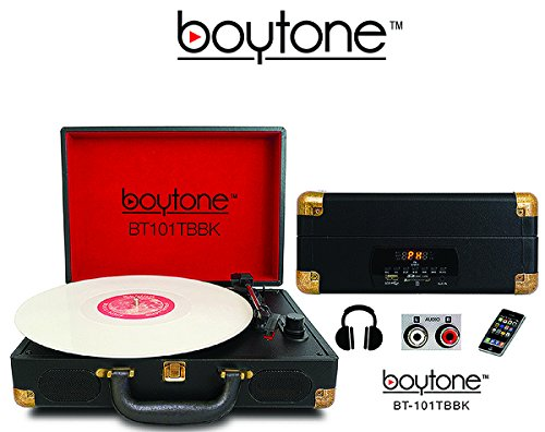 Boytone BT-101TBBK 5 in 1 Briefcase Record Player AC-DC Buil