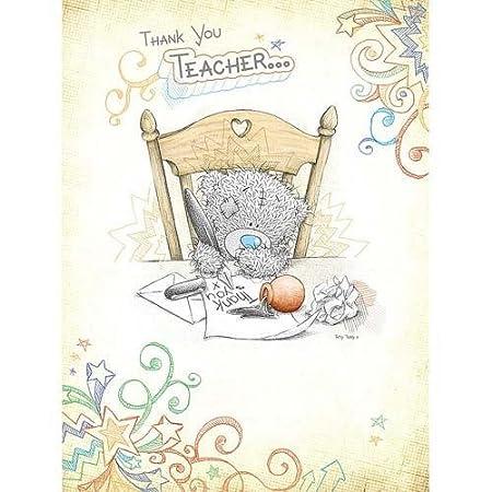 Tarjeta de agradecimiento para profesor Me to You Bear ...